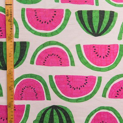 Digiprintti: Vesimelonit-jersey / Watermelons single jersey, digital print / Käpynen
