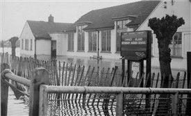 Canvey Island Secondary Modern School later William Read School 1953 Flood