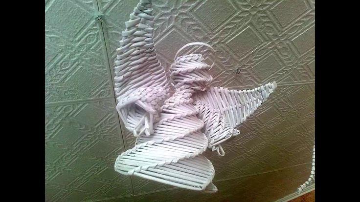 ПОДЕЛКИ ИЗ бумажных трубочек Ангел Рождества