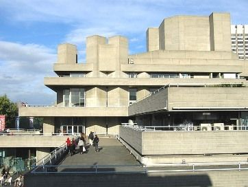 City architecture    (National Theatre, South Bank, Lambeth)