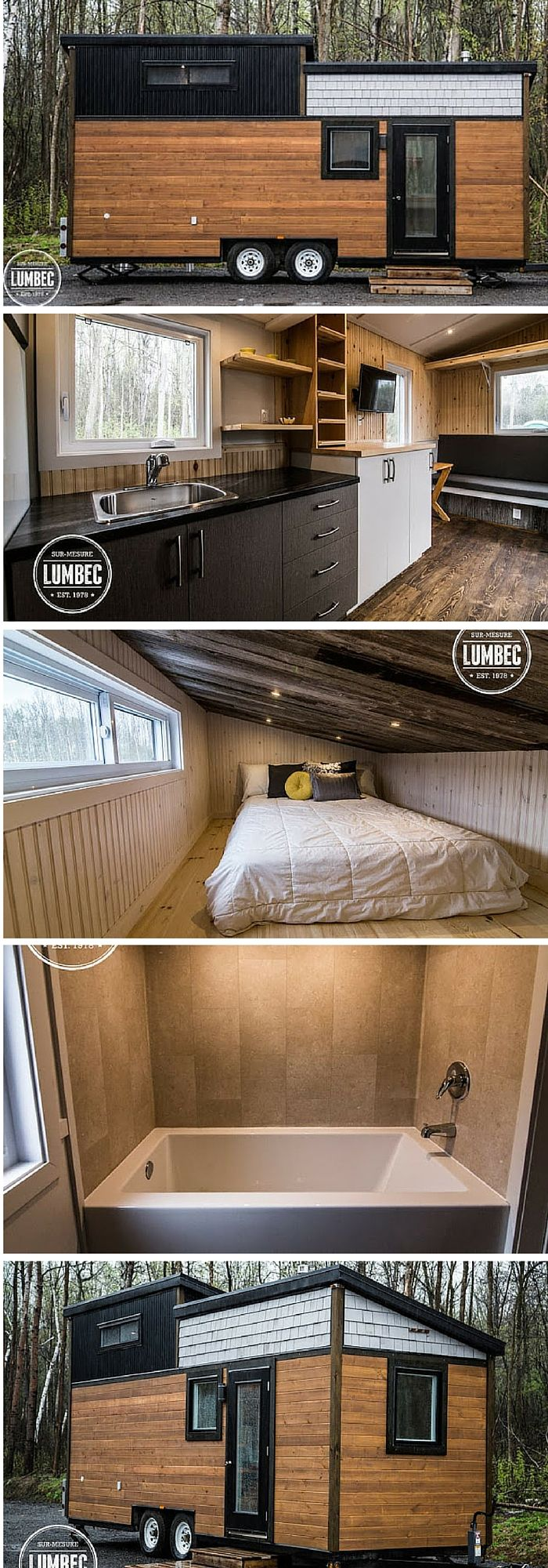 The TH2 from Tiny House Lumbec. A 204 sq ft tiny house made in Quebec, Canada.