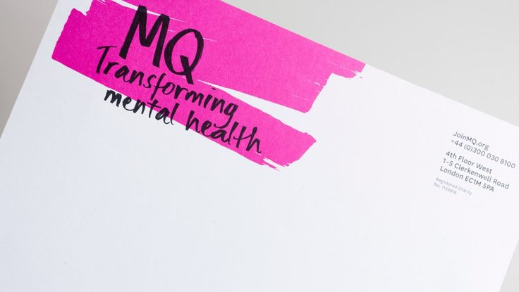 Here is a refreshing branding by Heavenlyfor a charity that works with people that have mental health issues. Our brief was to create a brand that challenged perceptions, raised awareness for mental health research and engaged with potential donors: MQ Transforming mental health