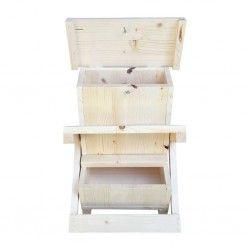 Mangiatoia automatica per galline in legno GAYA