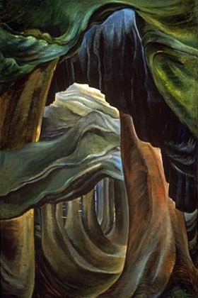 Forest - British Columbia - Emily Carr -1932- WikiArt.org - the encyclopedia of painting