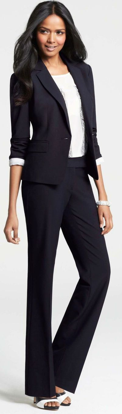 Chic Professional Woman Work Outfit. Ann Taylor