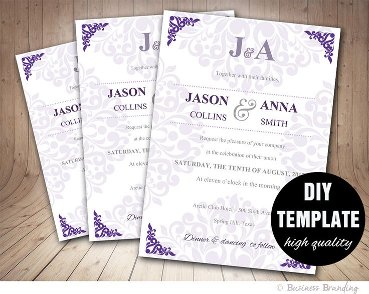 19 best Invitation Inspiration images on Pinterest Wedding - ms word invitation templates