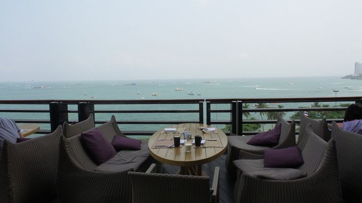 Breakfast with a view at Edge at the Hilton Pattaya Hotel, Thailand