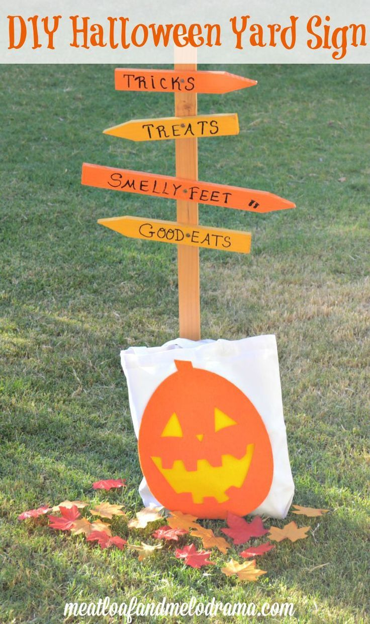 Wooden halloween yard decorations - Diy Wood Halloween Yard Sign Tutorial