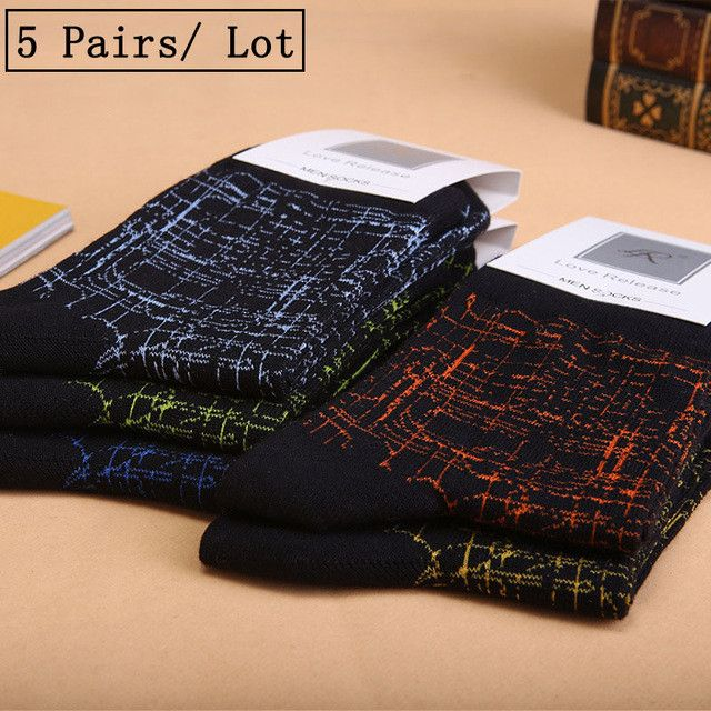 5 Pairs/Lot Seamless Socks Men Breathable Absorb Sweat Comfortable Cotton Long Socks Health Gift 2017 Brand Fashion Hot Sale