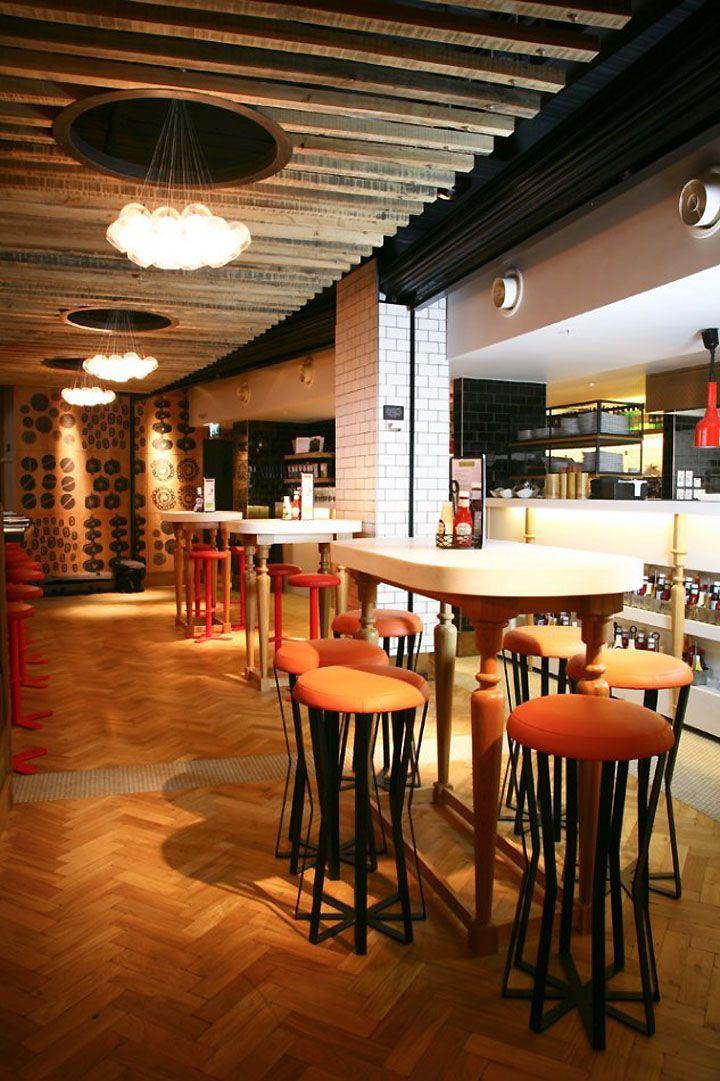 Giraffe Bar Grill Restaurant Interior Design By Harrison