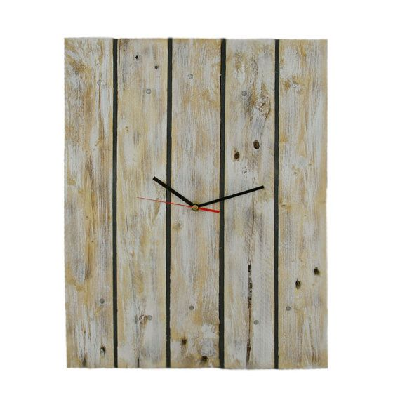 Black Pieces MonteVente clock made from raw pinewood with black slats. In this model we used raw planks from pallets which were whitened and brushed.  Clock Black Pieces despite its simplicity, has a unique look and charm.   On the creation of my products I spend hours of attention, emotion and passion... In each clock there are only positive feelings. Available in 3 sizes. More clocks: www.montevente.pl