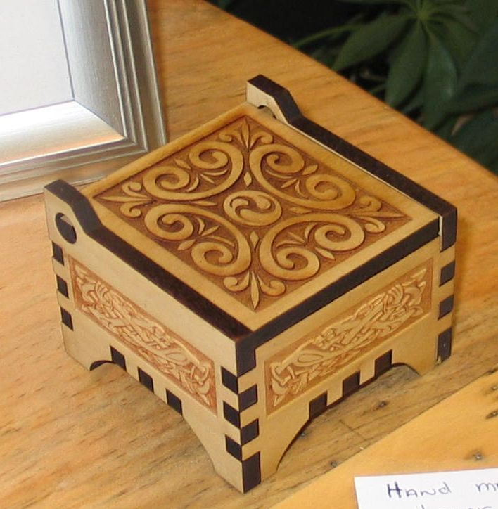 celtic wood carving | celtic knot music box this hand carved wooden music box