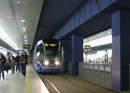 a fast tram line in Cracow