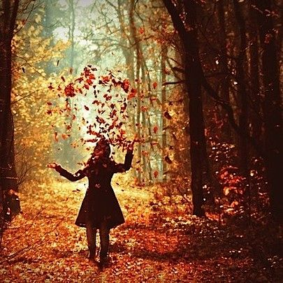 Throw some leaves and act like a child, just for a a blissful moment or two