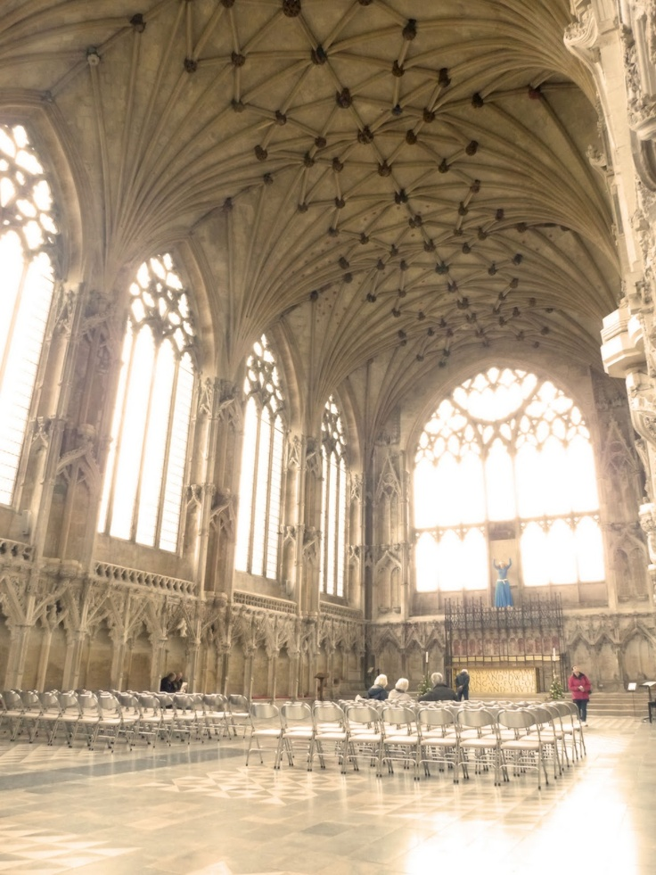 Lady Chapel, Ely Cathedral. The acoustics in the chapel are beautiful. i tried it out when I visited in 1997.