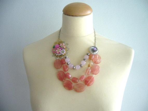 Pink Quartz Necklace @Stavroula Kanellopoulou Kanellopoulou #gemstone #necklace #quartz