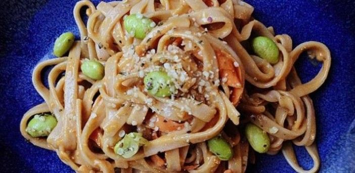 Sriracha Peanut Noodles recipe from HERB