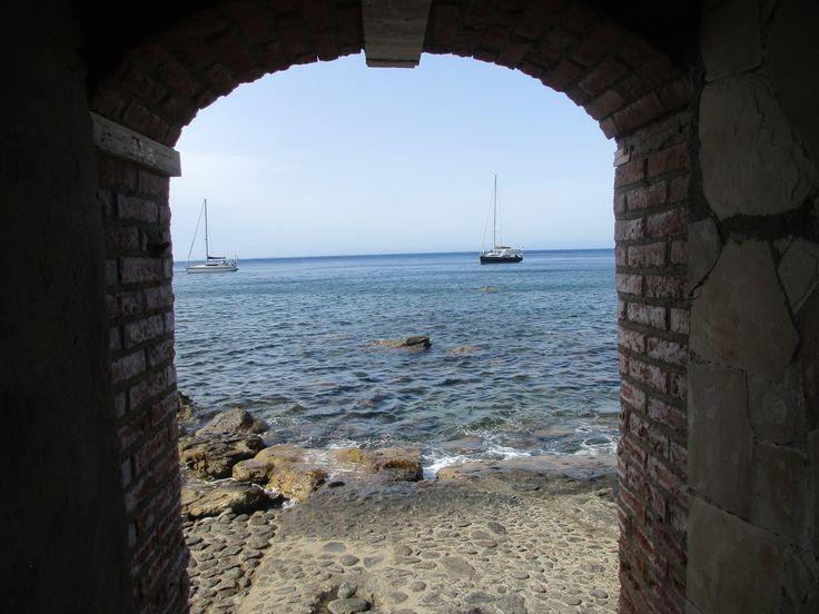 Loďky na moři - Scilla - Kalábrie - Itálie