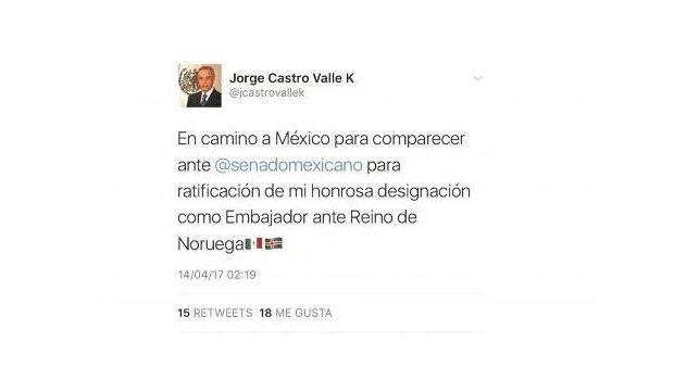 Embajador de México en Noruega confunde la bandera de este País y pone la de Islandia - http://www.esnoticiaveracruz.com/embajador-de-mexico-en-noruega-confunde-la-bandera-de-este-pais-y-pone-la-de-islandia/