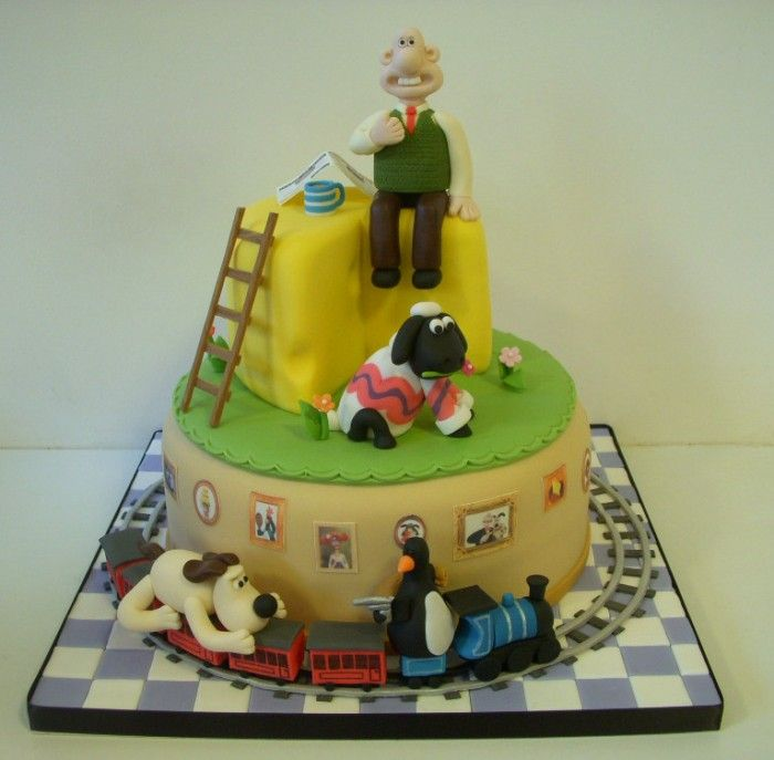 Wallace & Gromit - Your Creations - Wallace and Gromit cake by KarenCartlidge