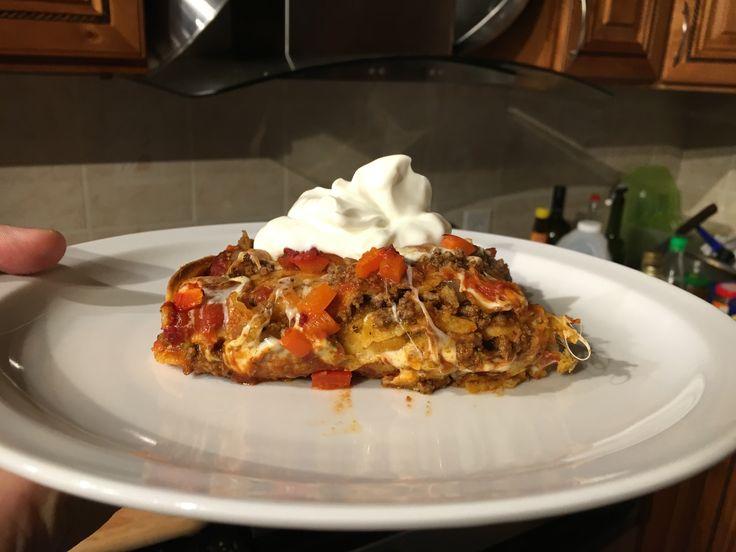 Enchilasagna (enchilada lasagna)