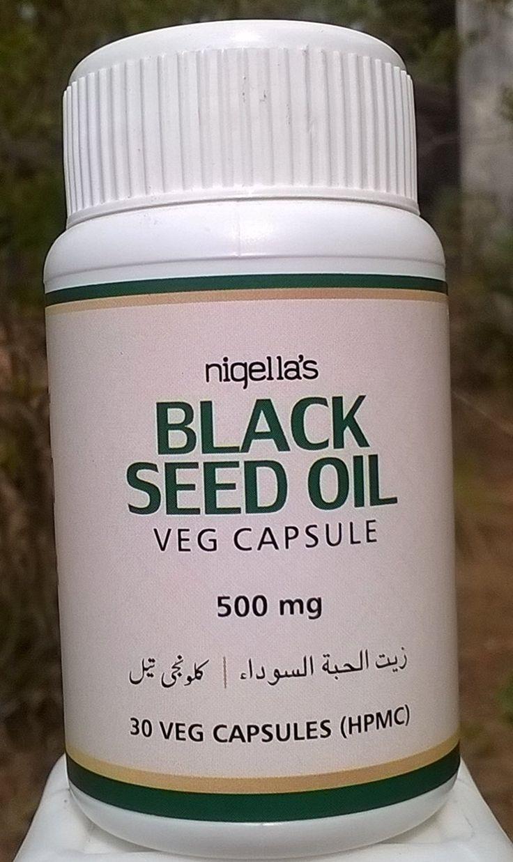 #Black seed #oil Veg #capsule HPMC 500mg*30 #bottle*4 (120 capsule)