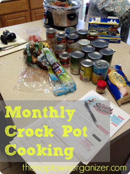 Once a Month Crock Pot Cooking , Meal Plans & Recipes for Slow Cooker Freezer Dinners on the cheap!