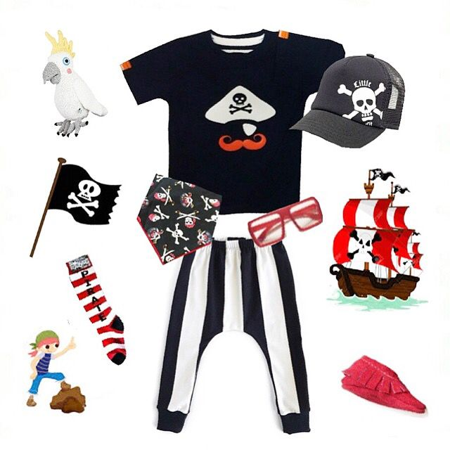 """Ahoy my hearty! Über cool pirate #flatlay including our #MÔMES""""Jean-Paul"""" tee ⚓️ Thank you @jubilantjaxson for including us ❤️ You can grab """"Jean-Paul"""" at www.momes-store.com (link in profile) ❤️ #pirate#ootd#outfit#organiccotton#or#handcrafted#hipster#kidsfashion#tshirt#tee"""
