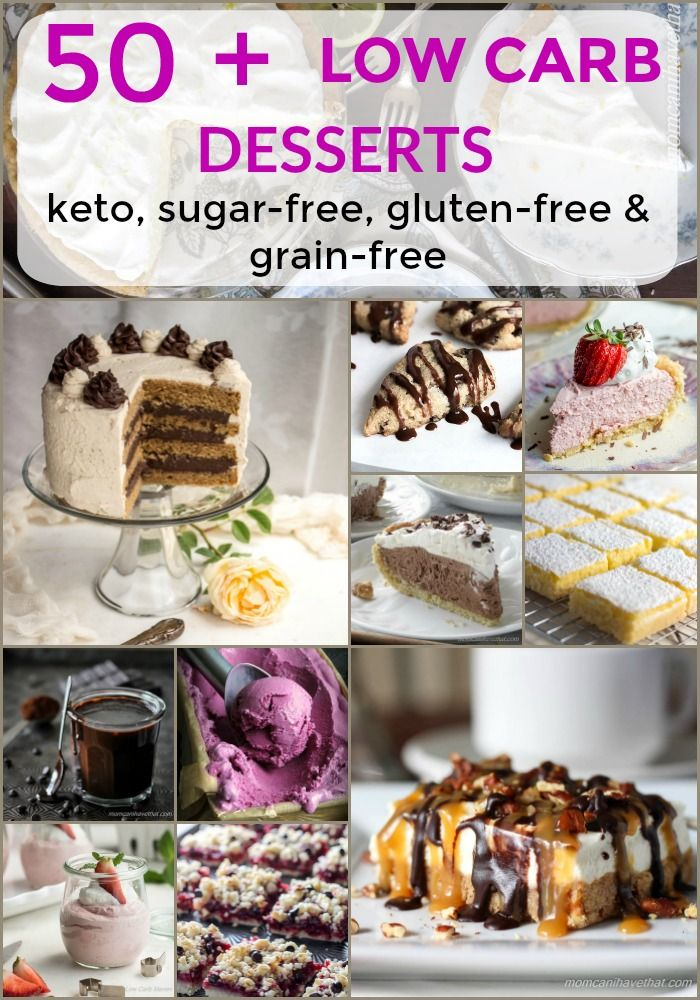 Over 50 low carb desserts, keto desserts and LCHF desserts which are sugar-free, grain-free and gluten-free.