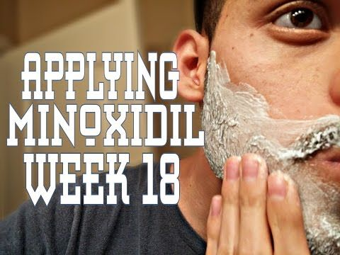 Week 18- minoxidil beard (how I apply minoxidil) - YouTube