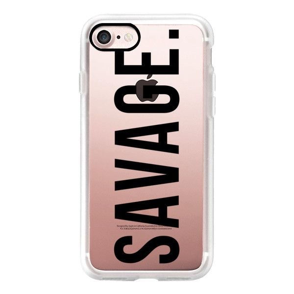 Savage (black) - iPhone 7 Case, iPhone 7 Plus Case, iPhone 7 Cover,... ($40) ❤ liked on Polyvore featuring accessories, tech accessories, iphone case, apple iphone case, iphone cases and iphone cover case
