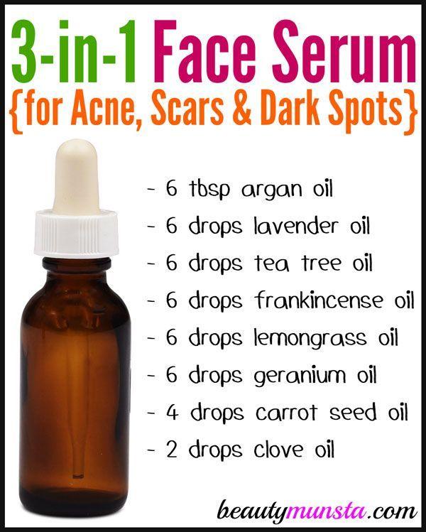 DIY Gesichtsserum für Akne, Narben und dunkle Fle…
