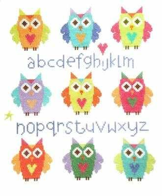 Cute Owl ABC Sampler - The Stitching Shed - £14.99
