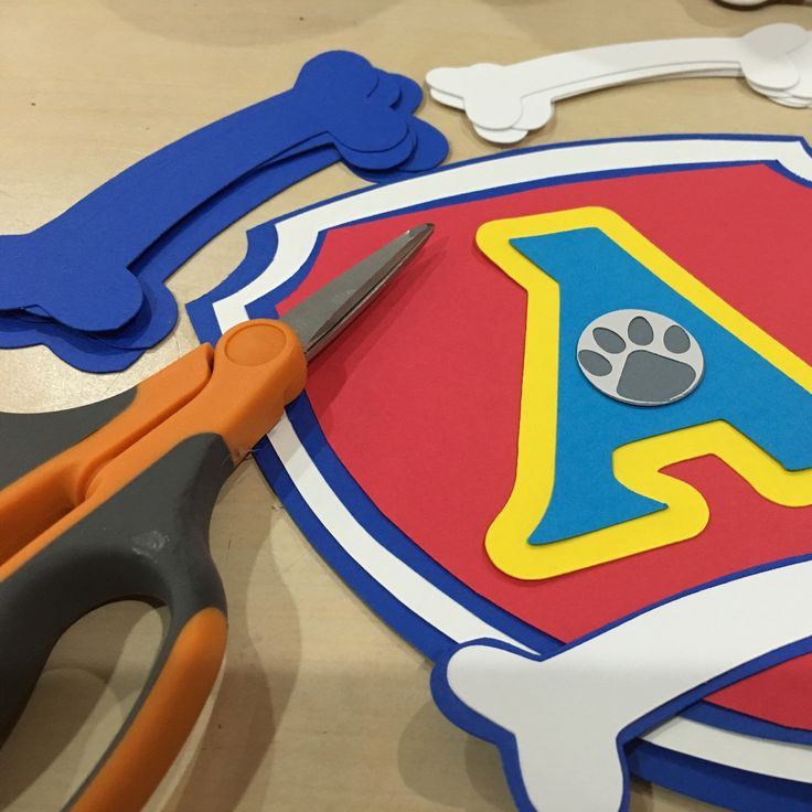 Working on Paw Patrol banner. This is the letter A from Happy. A quick close up to see the detail.