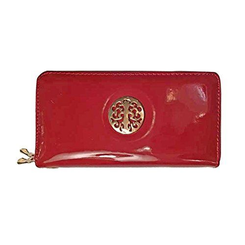 BELLO TUTTI Women's Zip Around Long Handbag Wine Red. Made with High-quality durable pu leather and gold tone metal. Material: Soft textured pu leather,solid-colored fabric lining, gold-tone hardware, campany emblem logo. BELLO TUTTI Long Style Double Zipper Wristlet Wallet with Emblem. Exterior measures: 8.1x 4.0x 1.6inches. Product Brand:Skyler.