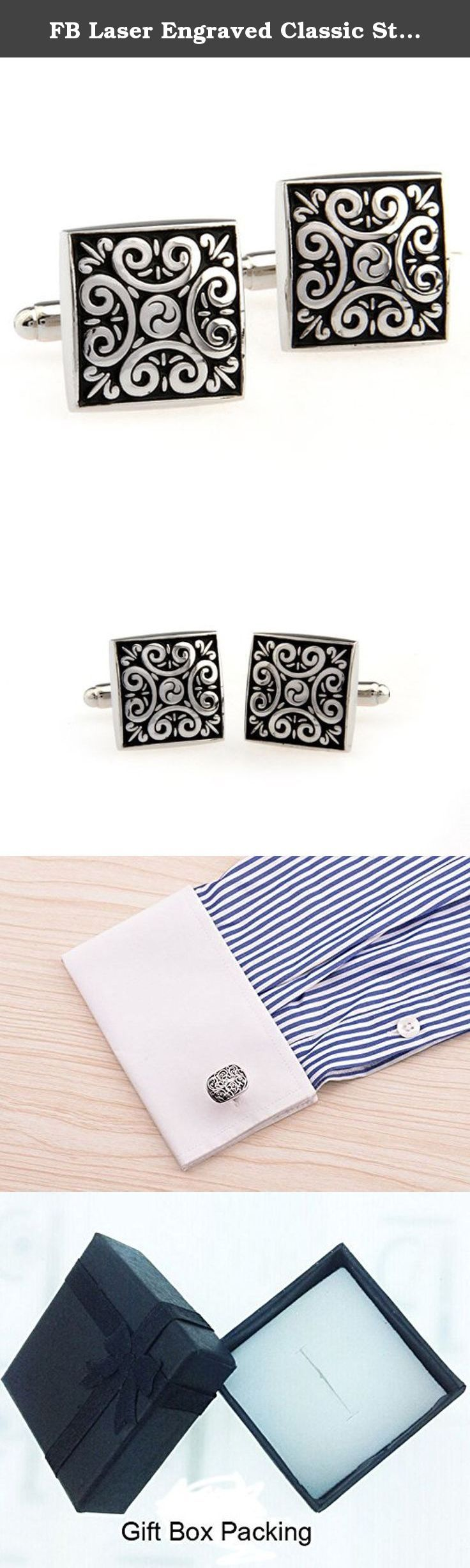 FB Laser Engraved Classic Style Cufflinks Hot Sale Styles for Men. 1. Dress your suits and shirts up, match you in all the seasons 2. 100% stainless with engraved impression 3. It is a good gift set for gentleman 4. Very good quality with simple design, also in good price. 5. Free shipping and comes with a gift box.