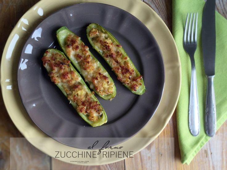 Zucchine ripiene al forno Ricetta @vicaincucina