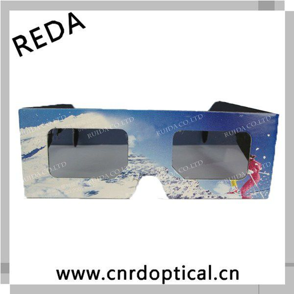 Promotional 3D circular polarized glasses for flash games