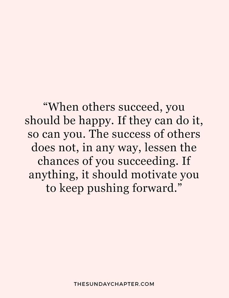 words on success & why jealousy is pointless