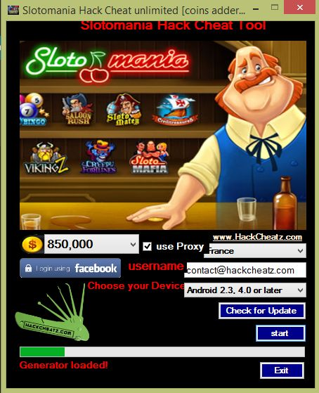 Slotomania hack for facebook android and ios