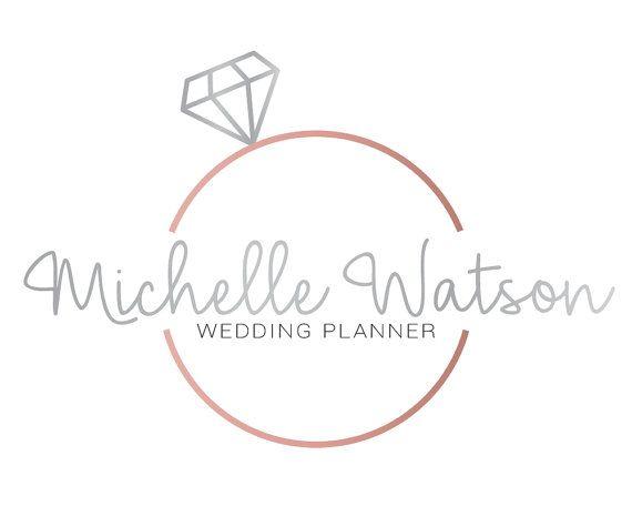 Diamond Logo Design, Ring Logo, Minimalist Logo, Wedding Planner Logo, Bridal Makeup Logo, Wedding Photographer Logo, Wedding Logo