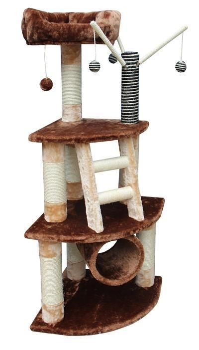 Athens Cat Tree in Brown/Beige by Kitty Mansions