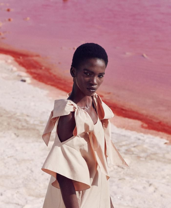 Aamito Lagum Is Lensed By Daniel Riera In 'Think Pink' For Harper's US Dec 2016/Jan 2017 — Anne of Carversville