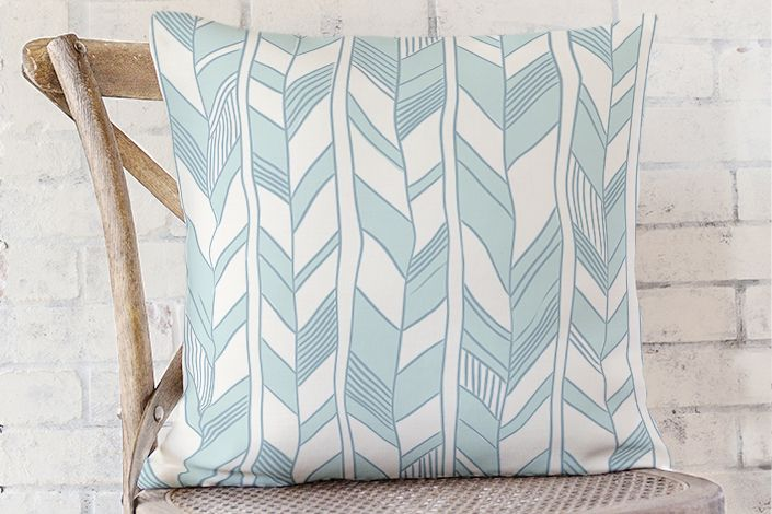 Sketchy herringbone cushions | Stylisti on Minted
