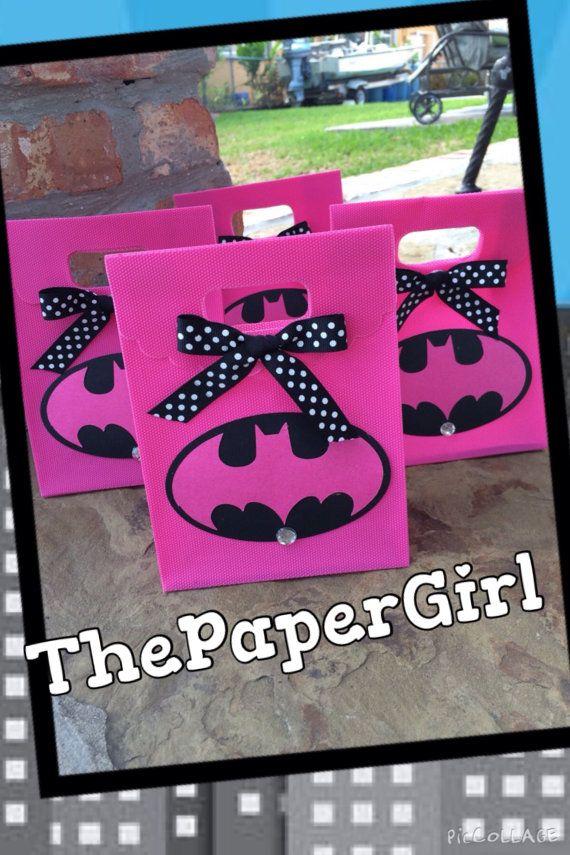 8 Batgirl Bat Girl Superhero Favor Gift Tote by ThePaperGirlbyANM