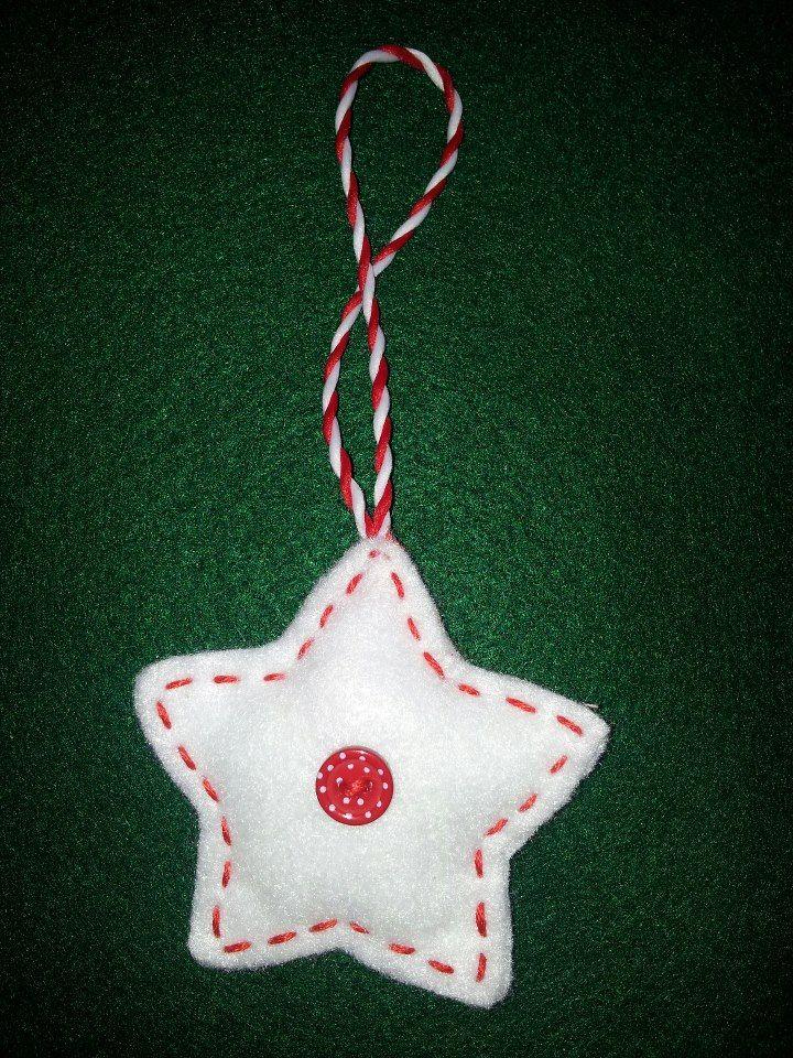 white star christmas decoration
