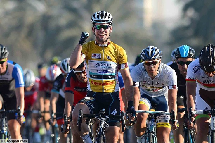 Tour of Qatar - stage 6 - Tim De Waele - Cycling : Tour of Qatar 2013 / Stage 6 Arrival / Mark CAVENDISH (Gbr) Yellow