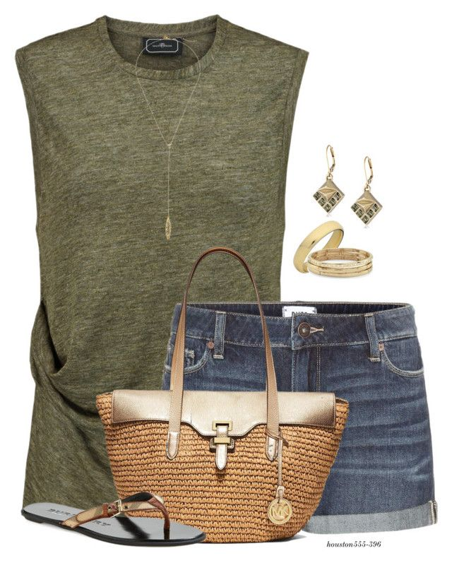 Friday Night BBQ by houston555-396 on Polyvore featuring By Malene Birger, Paige Denim, Burberry, MICHAEL Michael Kors, Chico's, Sam Edelman and Rebecca Minkoff