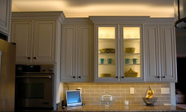 Under cabinet lighting normal bright flexible strips in for Normal kitchen design