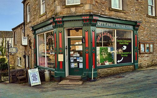 The Village Shop.  19 February 2013   Kettlewell, England.